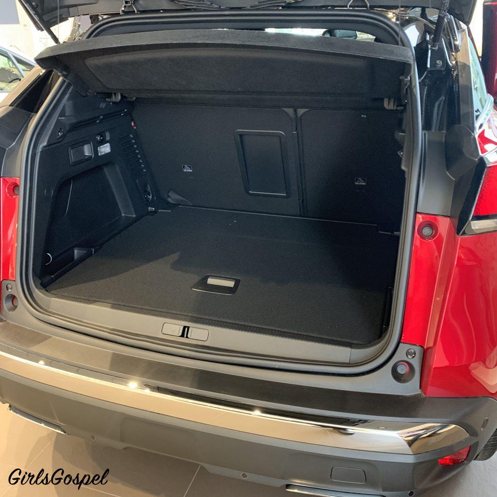 Peugeot 3008 GT Line - boot door open, looking into the boot space