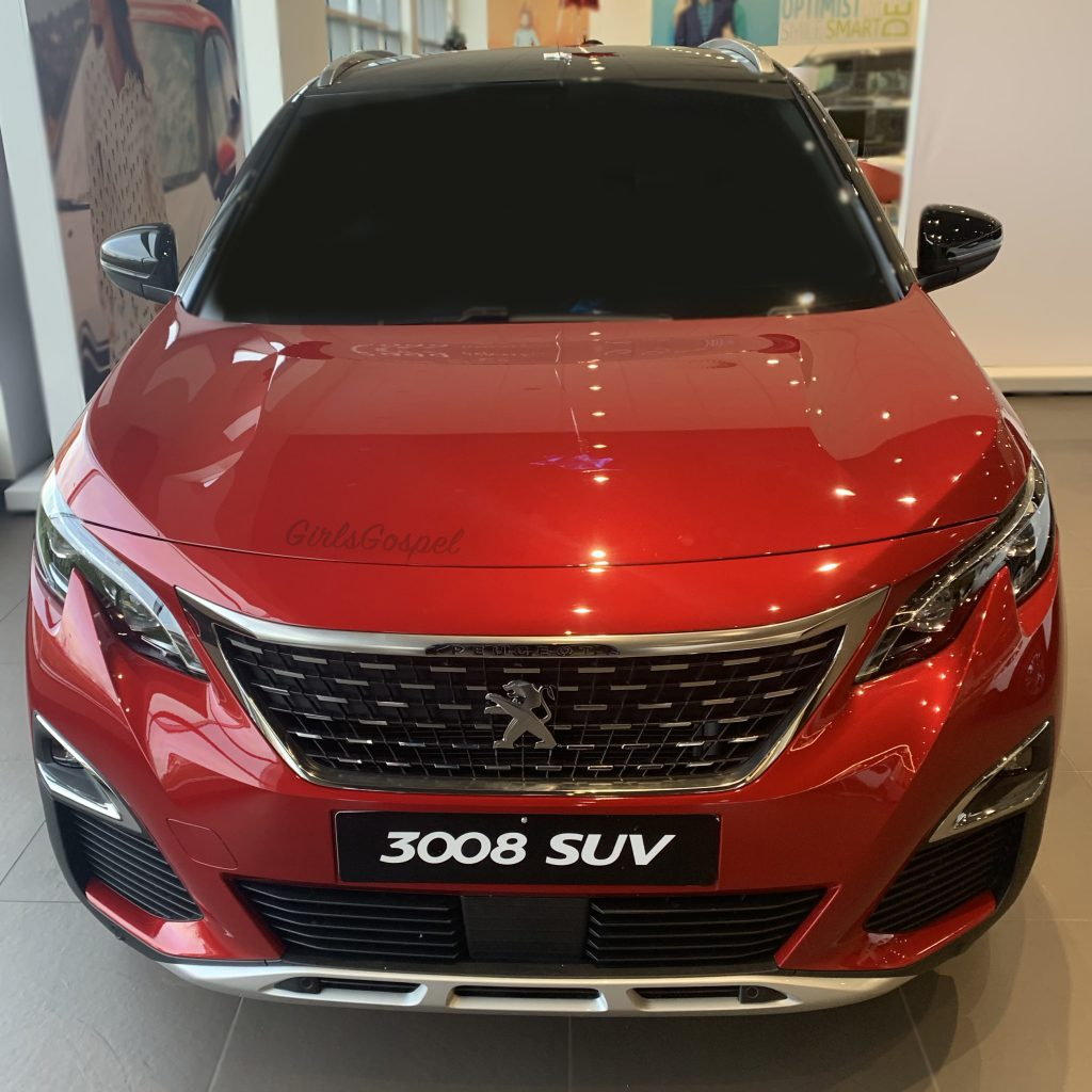 Peugeot 3008 GT Line view from the front of the car