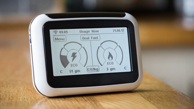 making your home more energy efficient - smart meter on table