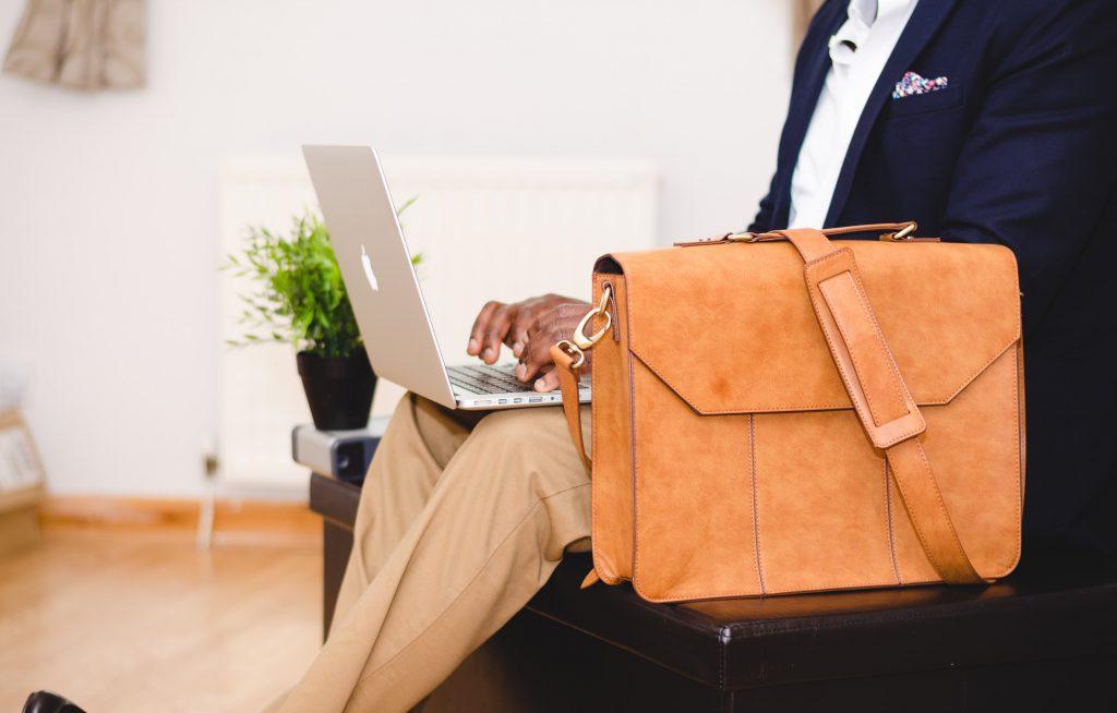 business taken seriously - man on laptop