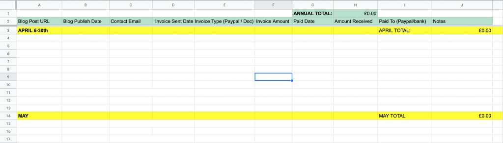 income and expenses templates - INCOME