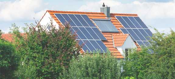How Sustainable is Solar Energy? - Solar panels on house